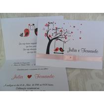 Convite De Casamento Barato E Bonito (10un) Melhor Preço