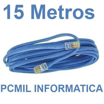 Cabo De Rede Cat5 Ethernet 15 Metros Internet Pronto P/ Usar