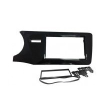 Moldura Painel Dvd 2 Din Honda City 2014 2015 Black Piano