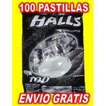 Pastillas Halls Negras Extra Fuerte Intense Cool 100 Piezas