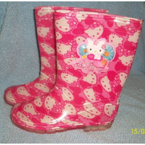 Bota De Lluvia Niña Hello Kitty Original Splosh 33