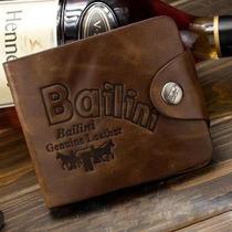 Carteira Cowboy Masculina Em Couro Leather Genuine.