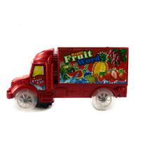 Caminhão Carro De Frutas A Pilha Bate E Volta Com Luz E Som