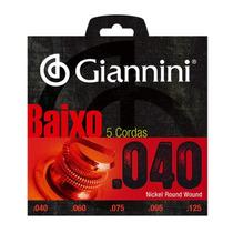 Encordoamento Contra Baixo 5 Cordas .040 Giannini Promoção