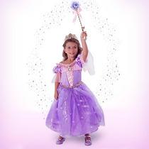 Disfraz Interactivo Con Luz Disney Store Vestido Rapunzel