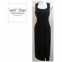Vestido Largo Diseñador Tahari -fashionella- S(2) T9y1 T9y0