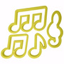 Kit Cortador Biscuit E Pasta Americana Notas Musicais 4 Pç.
