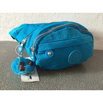 Cangurera Kipling Azul Turques Para Niño/niña Modelo Escolar