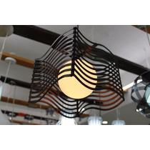 Candil Lampara De Techo 1 Luz Estructura Color Negro Adir