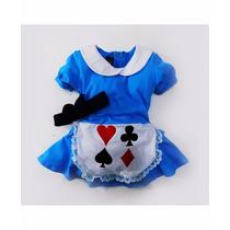 Vestido Alice No País Das Maravilhas Fantasia Festa Infantil