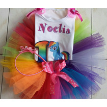 Tutu Personalizado Rainbow Dash Little Pony Niña Colores