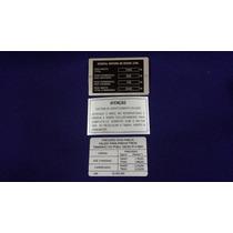 Plaqueta De Identificação Do Motor Do Kadett Conversivel