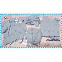 Conjunto Bebé - Ajuar - Recien Nacido -tejido Artesanal