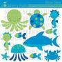 Kit Imprimible Animalitos Fondo Del Mar 3 Imagenes Clipart