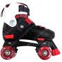 Patines 4 Ruedas Extensibles C/bota Reforzados Rojo Y Negro