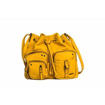 Amphora Simo Bolso C/cordón Mostaza Cartera Para Mujer