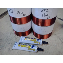 Kit 4 Bobinas E 2 Colas P Ksl 1600 4 Ohms