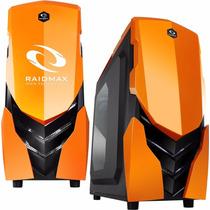 Gabinete Pc Gamer Raidmax Ninja Ii Orange Sop. Water Cooler