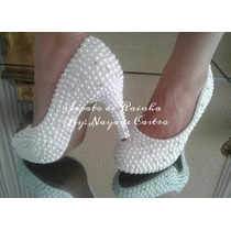 Sapato Pérola E Cristais Noiva 10,12(customizado)