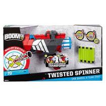 Pistola-lanzador Dardos Twisterspinner Boomco Mattel. Nueva