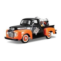 1948 Ford Pick Up F-1 1.24 Duo + Moto 1958 Flh Glide 1.24