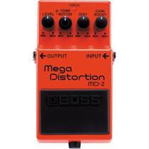 Boss Md-2 Mega Distortion Pedal Distorsión Metal Dhl Gratis