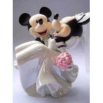 Noivinhos Mickey E Minnie Topo De Bolo Original Disney Parks