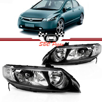 Farol Honda New Civic 07 08 09 10 11 Par