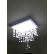 Luminária Com 448 Cristais E Iluminação Lampada Led.