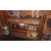 Mesa De Arrime Recibidor Banco Trabajo Antiguo Cajones Cedro
