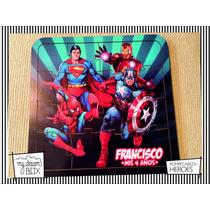 Souvenir Rompecabeza Personaliza Madera 10x10 Super Heroes
