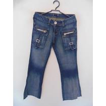 Calca Feminina Jeans Detalhe Zíper Cód. 751