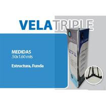 Display Vela Triple .50 X 1.60 , Banner, Publicidad.