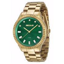 Relógio Seculus Feminino 2 Anos Garantia 69507lpsvds3 V
