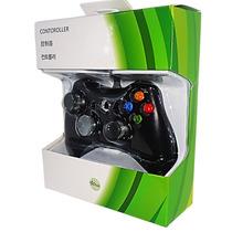 Controle Com Fio Xbox 360 E Pc Slim Joystick Original 2 Mts