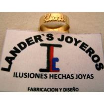 $2300 Anillo De Oro Con Grabado De Nombre