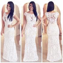Lindos Vestidos Em Renda Para Festas Noite Casamentos