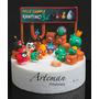 Angry Birds Combo En Porcelana Fria Adorno Torta, Souvenirs