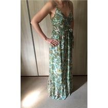 Lindo Vestido Longo Floral De Crepe