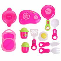 Cozinha Infantil Panelas, Fogão, Talheres E Mais - Rosa
