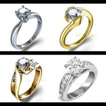 Anillo De Compromiso Con Diamante Natural .45ct En Oro 14k