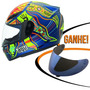 Capacete Agv K3 5/five Continents Vale Rossi Azul 59/60 Rs1