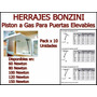 Piston A Gas Para Puertas Elevables X 10u - Herrajes Bonzini