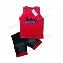 Conjunto Nike - Hollister Regata - Infantil