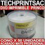 Disco Dvd Imprimible Princo 4.7 Gb Cono 50 Unidades Sellado