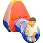 Toca Barraca Com Túnel 2 Em 1 Infantil 60 Bolinhas - Brink+