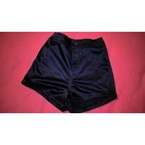 Short Satinado Brilloso Elastizado Azul Talle1 Corte Jean