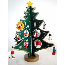 Mini Arvore De Natal Em Madeira - 27,5 Cm