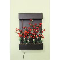 Cuadro Decorativo Iluminado Interior Ramas Varas Led Flores