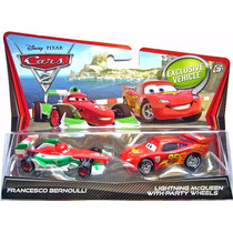 Disney Pixar Cars Lightning Mcqueen & Francesco Bernoulli